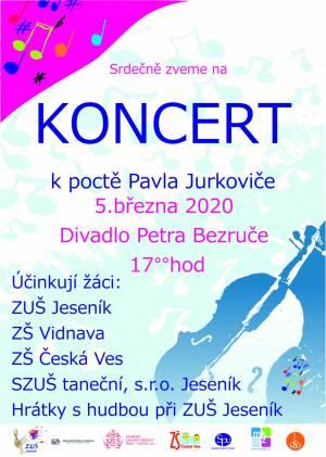 Koncert k poctě Pavla Jurkoviče 2020